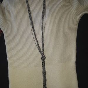 Nordstrom long gold and silver knot necklace
